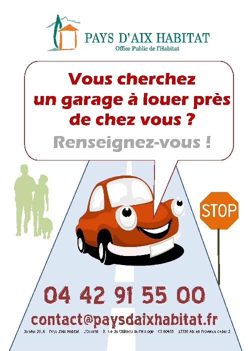 Garages louer a la une informations pratiques espace locataires pays d 39 aix habitat - Location garage assurance locataire ...